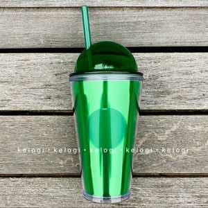 Starbucks Other - ✨NEW RARE✨Starbucks Green Metallic Dome Tumbler